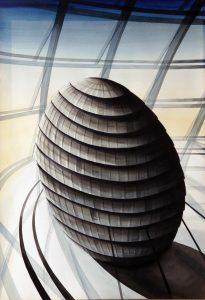 """Obra de arte: """"El Huevo de Londres"""""""