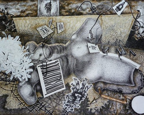 Imagen de portada de la exposición online del artista de la plástica David Laffargue